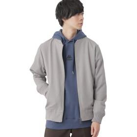 (モノマート) MONO-MART スーツ地 MA-1 ジャケット 厚手 ストレッチ TR メンズ ma-1 メンズ グレー Mサイズ