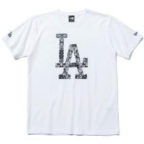 ニューエラ (NEW ERA) Tシャツ ペイズリー MLB ロサンゼルス ドジャース ホワイト S