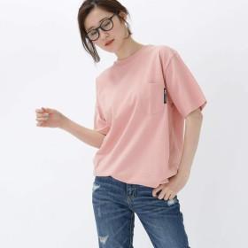 BASE CONTROL(Ladies)(ベースコントロール(レディース))ヘビーウェイト Tシャツ クルーネック ポケット 半袖Tシャツ ピンク(072) 02(M)