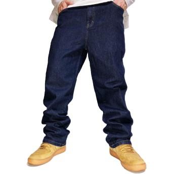 大きいサイズ デニムパンツ メンズ イージーパンツ デニム パンツ キングサイズ 5L 5XL ゆったり ジーパン ネイビー