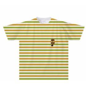 ビーバーのボーダーTシャツ(大人 子供サイズ)【全面プリント】