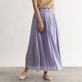 オゾック(OZOC)/カラー消しプリーツフレアスカート