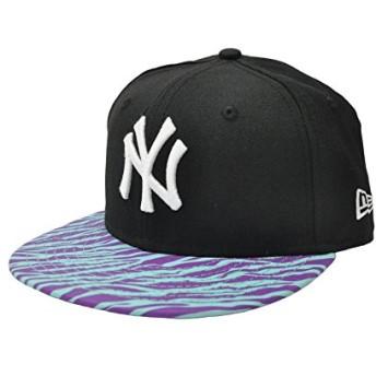 ニューエラ キャップ ◆ NEW ERA Kid's Youth 9FIFTY ヤンキース ブラック × ホワイト マルチゼブラバイザー N0019827 キッズ 帽子 アジャスター|フリー ブラック×ホワイト×ゼブラ
