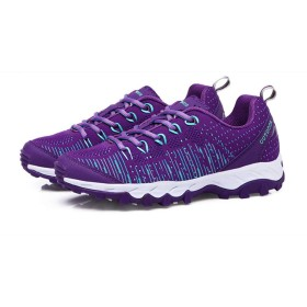 [AcMeer] スニーカー メンズ レディース ハイキングシューズ 登山靴 滑りにくい 軽量 大きいサイズ アウトドア 男女兼用 恋人 ユニセックス ウォーキング ランニング 普段着用 トラベル 赤 紫 黒