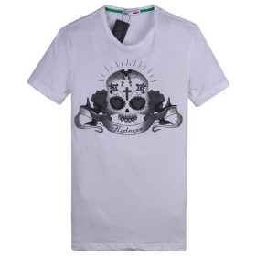 [ハイドロゲン] メンズ ポロシャツ おしゃれ ブランド ドクロ スカル カジュアル 半袖 HYDROGEN B7594 (White, L) [並行輸入品]