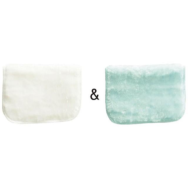 ボアクロス2枚組(水だけで油汚れがスッキリ) - セシール ■カラー:ホワイト&ブルー) B(イエロー&ブラウン) C(ピンク&グリーン