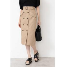 【NATURAL BEAUTY BASIC:スカート】[NBB×Oggiコラボ][洗える]トレンチタイトスカート