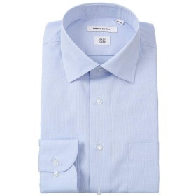 (ザ・スーツカンパニー) ワイドカラードレスシャツ 織柄 〔EC・FIT〕 ブルー×ホワイト 39