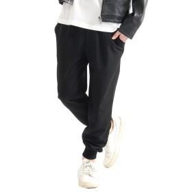 (スペイド) SPADE ジョガーパンツ 麻 リネン 綿麻 メンズ リブ パンツ 【e728】 (ブラック, M)