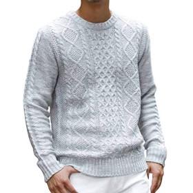 (アドミックス アトリエサブメン) ADMIX ATELIER SAB MEN メンズ ニット セーター ケーブル編みクルーネックセーター 02-51-7104 50(L) ライトグレー