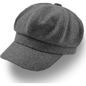 CHROME CRANE(クロム クレイン) レディース フリーサイズ キャスケット 帽子 つば付 カジュアル ベレー帽 CB003 (02.ダークグレー)