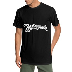 ホワイトスネイク Whitesnake メンズ トップス 夏 半袖 吸汗 速乾 個性デザイン おしゃれ プリント クルーネック Tシャツ