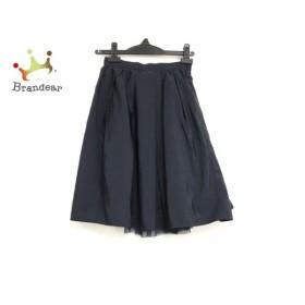 アプワイザーリッシェ スカート サイズ0 XS レディース 美品 ネイビー リバーシブル 新着 20190719