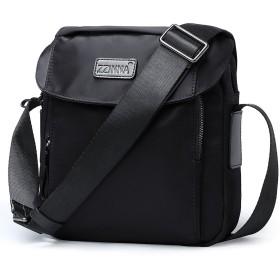 ZZINNA ショルダーバッグ メンズ 斜めがけバッグ 軽量 メッセンジャーバッグ レディース おしゃれ 通勤 人気 9.7iPad ビジネス ブラック