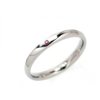 サージカルステンレス ファッションリング リング 指輪 細身 ガーネットジルコニア ステン316L アレルギーに優しいサージカルステンレス