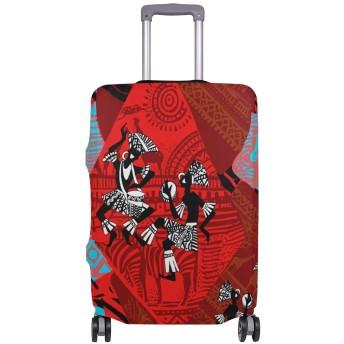 スーツケースカバー 荷物カバー インディアン ゼブラ 抽象的 伸縮素材 ラゲッジカバー 防塵 擦り傷防止 トラベルアクセサリ 旅行