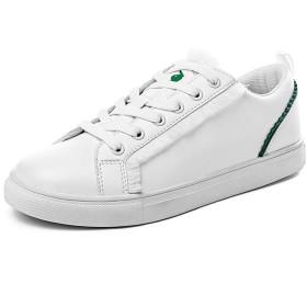 [プレイボーイ] ボードシューズ レディーズ Board Shoe Ladies 厚底 ローカット 柔らかい シンプル 混合色 ホワイト グリーン 25.0cm [並行輸入品]