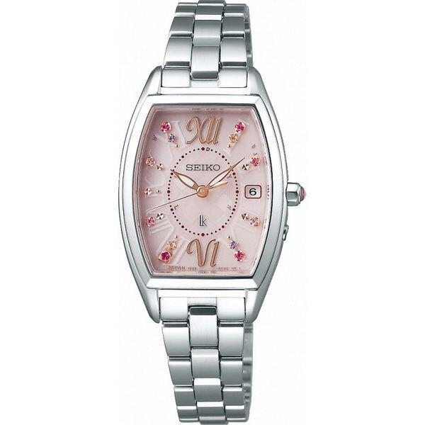 Seiko 精工錶 1B32-0AA0P(SSVW129J)LUKIA限量太陽能電波腕錶 /粉 24mm