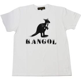 KANGOL STENCIL KG TEE LCT0033 (MENS(L), WHITE)