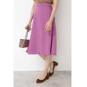 【NATURAL BEAUTY BASIC:スカート】[洗える]カラーフレアスカート
