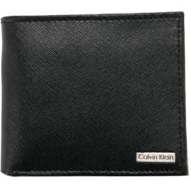 カルバンクライン Calvin Klein CK 財布 二つ折り財布 メンズ レザー ロゴプレート ブラック(黒) 79393