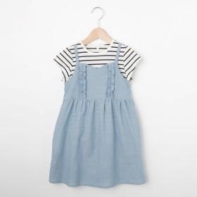 3can4on(Kids)(サンカンシオン:キッズ)/【2枚セット】【100cm~150cm】Tシャツセットキャミワンピース