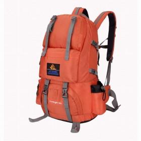 (ヤンガーベビー)Youngerbaby バックパック アタックザック リュックサック アウトドア 登山用 大容量 防災リュック 多機能 ナイロン 海外旅行 撥水加工 デイパック (オレンジ-1)
