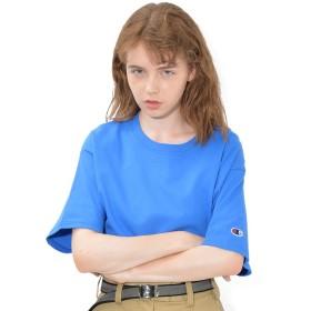 ロイヤルブルー L (ディーループ)D-LOOP おしゃれ 6オンス ヘビーウェイト チャンピオン champion ロゴ ブランド Tシャツ カットソー ティーシャツ レディース ビッグシルエット ドロップショルダー クルーネック かわいい 半袖 厚手 夏 夏物 123901-006-623