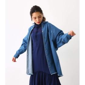 [ロデオクラウンズ ワイドボウル] ドルマン シャツ ジャケット 420CSH30-0590 FREE ブルー