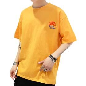 XOKKO ティシャツ メンズ カジュアル 春夏 夏物 夏服 お洒落 ゆったり プリント