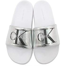 (Calvin Klein Jeans) ユニセックス シャワーサンダルアッパーメタル34R3654 (7, シルバー) [並行輸入品]