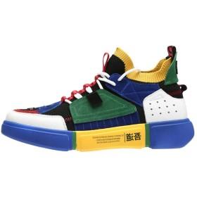 [PAIOU] メンズバスケットボールシューズ軽量通気性ランニングシューズはスニーカーをひもで締めます (Color : A, サイズ : EU44)