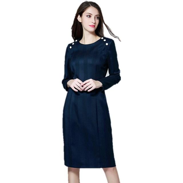 ワンピース スーツ ラウンドネック Aライン ひざ丈 大人 清楚 エレガント ミモレ丈 ドレス 正装 K13578 (ブルー, 4XL)