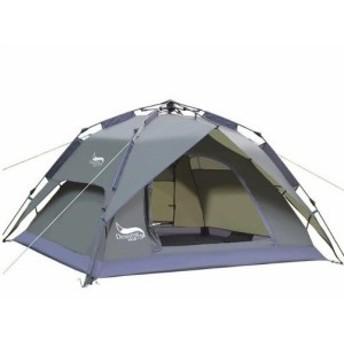 キャンプ テント 3-4人 ダブル機能 防水 二重層 サンシェルター