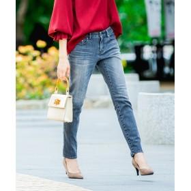 すごく伸びるデニムスキニーパンツ(股下68cm) (レディースパンツ),pants