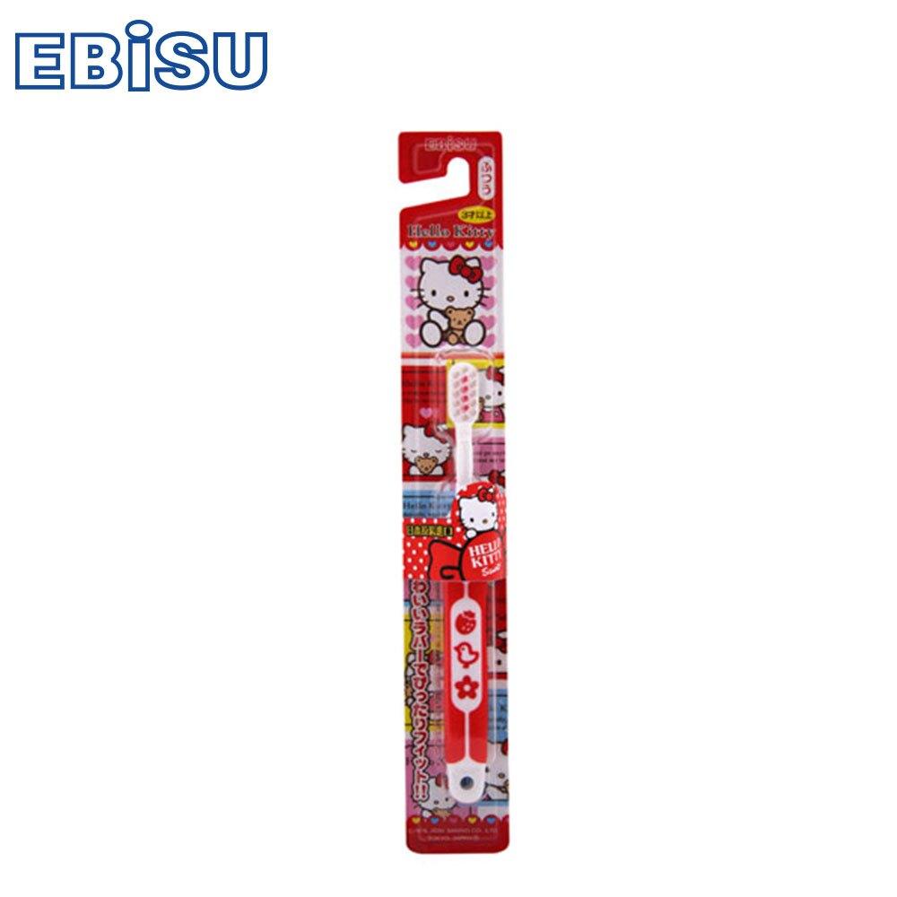 【日本EBiSU惠比壽】Hello Kitty 軟柄兒童牙刷