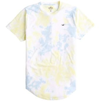 [ホリスター] メンズ Tシャツ (半袖) TIE-DYE CURVED HEM T-SHIRT ブルーイエロー (USA基準) S [並行輸入品]