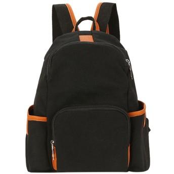 リュックレディース リュックサック 手提げバッグ ショルダーバッグ 防水 大容量 男女兼用 通学 通勤 カレッジ風 キャンバス
