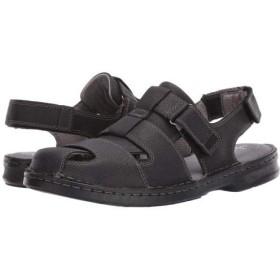 [クラークス] メンズ 男性用 シューズ 靴 サンダル Malone Cove - Black Tumbled Leather 7.5 D - Medium [並行輸入品]