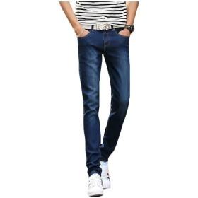 Vivi メンズデニムパンツ秋冬のスリムジーンズカジュアルゆったりしたズボン Blue 29
