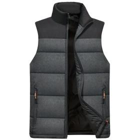 MIKAMU ダウンベスト メンズ 全3色 M-4XL 暖かい 防寒 アウトドアウェア 立ち襟 ダウンベスト カジュアル メンズ 冬服 厚手 ベスト