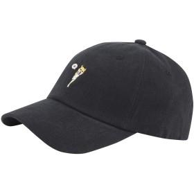 (ラオン) Raon B461新しい動物の芝犬のキャラクター刺繍ボールキャップ野球帽子トラック (Black) [並行輸入品]