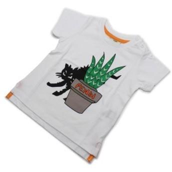 【新品】フェンディ(FENDI)ベビーTシャツベビー服BMI0617AJF0QA0ホワイト系キッズ・ベビー男の子