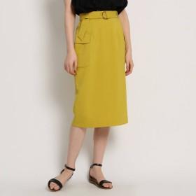 AG by aquagirl(エージーバイアクアガール)/【Lサイズあり】【洗える】リネン調フラップタイトスカート