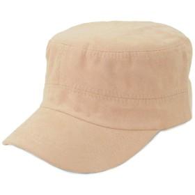 Lulu&berry ワークキャップ レディース メンズ 帽子 キャップ 男女兼用 ワークキャップ フェイクスエード ベージュ