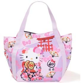 【B8-2】 Hello Kitty ハローキティ 限定 和柄 マザーズバッグ トートバッグ マザーズトートバッグ ■KITTY-WG■ (4063飾り鼓)