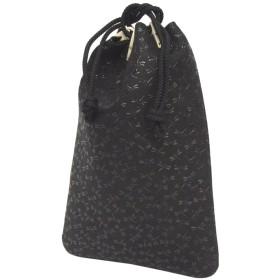 印伝[インデン]合切袋(巾着袋)[印傳屋]INDEN3004 (黒:とんぼ柄)