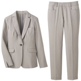 【レディース】 パンツスーツ(洗濯機OK・形態安定) - セシール ■カラー:ライトグレー ■サイズ:13AR70,15ABR80,13ABR76,11AR67,19ABR88,21ABR92,7AR61,9AR64,17ABR84