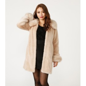 (リエンダ) rienda Faux Fur 4WAY ミディCT 110BSS30-0630 S ライトベージュ
