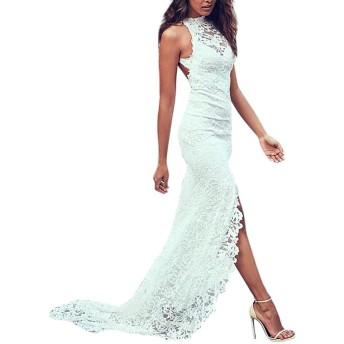 三番目の店 人気 女の子 スリング セクシー レース パーティー ペンシルミディドレス バンデージドレス ホワイト 結婚式ドレス 婚儀 嫁入り 白 花嫁